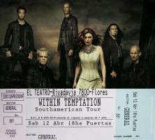 Within Temptation Ticket by punksafetypin