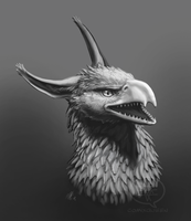 Griffin Bust by comixqueen