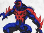 Spidey 2099 ready for battle by ChahlesXavier