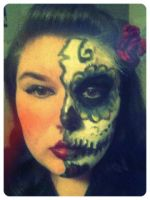 My makeup for Dia de los Muertos by Obscuriousity