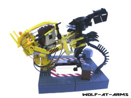 Alienqueen vs Powerloader Lego by Wolfatarms