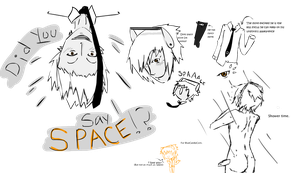 Humanized SpaceCore Sketches by J-Ecstas