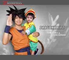 Father and Son Goku and Gohan by jeffbedash325