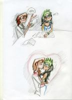 Donna and Carter scribbles by SySaiyan
