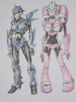Prime and Animated Arcee by RazPerm