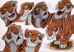 The Many Faces Of Shere Khan by NostalgicChills
