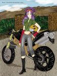 Motorcyclist girl by VittaFrine