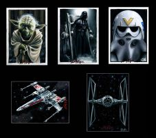 Star Wars Sketch Cards VI by AstroVisionary