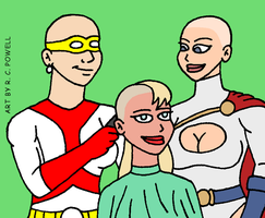 Madame Cueball's Salon - Supergirl and Power Girl by Rennon-the-Shaved