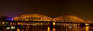 Cologne RR Bridge Pano by sivousplay