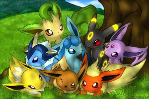 Eeveelutions by Kureculari