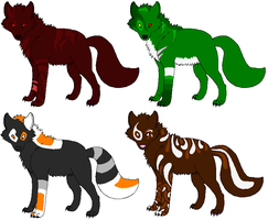 Wolf Adopts 1 -No points- by Dezu-Adopts