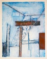 Abstract Collagraph by faustbane