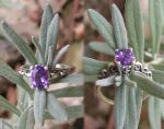 Amethyst Swirl Silver Ring by Izile
