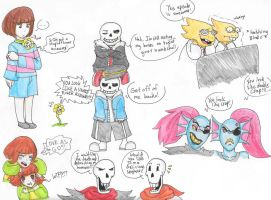 Undertale meets Underfell by costa17