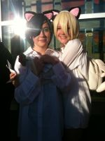 Anime Banzai 2012 Nighttime Neko Ciel and Alois by Fainting-Ostrich