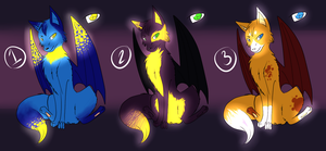 [ OPEN ] Winged Canine Adoptables by Sheketai-Adopts
