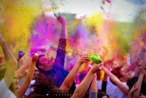 Holi Festival in Paris by alahay