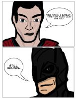 The Man of Steel and The Man of Bats by 127thlegion