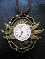 Steampunk Bug Clock Necklace by xxPRECIOUSMOMENTSxx