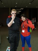 Sakuracon Wesker and Spidey by LeonKSpiderKitty