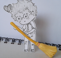 Paper Child - Harry loves his broom. by TheGirlWhoLivesHere