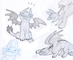HTTYD Sketches by SurlyQueen