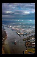 Above Hamburg by marcs-photos