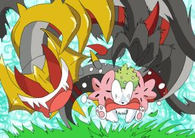 Giratina and Tasty Bouquet XD