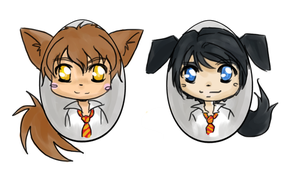 Remus and Sirius Eggs by Hogwarts-Castle