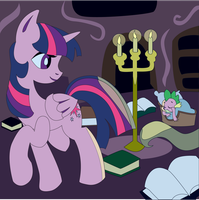 Shadowbox Mock-up: Twilight's Library by The-Paper-Pony