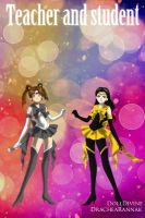 Sailor Silver Star and Sailor Sun Teacher/Student by SailorSunPhoenix