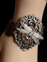 Dragonfly gears bracelet dis.2013 I by Pinkabsinthe