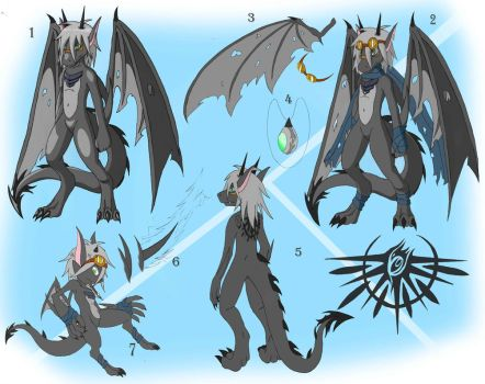 the gray dragon ref sheet by DragonJuno