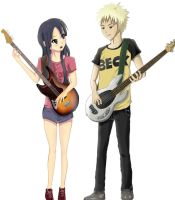 K-on Mio and BECK Taira by ivan1426
