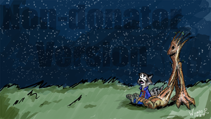 Rocket and Groot by Wynnefox