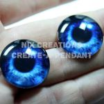 Mermaid Glass Eyes 4 Jewelry by Create-A-Pendant