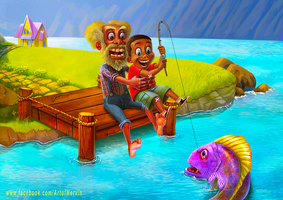 Fishing with Grandpa by JJwinters