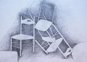 chairs pencil by GingerTat