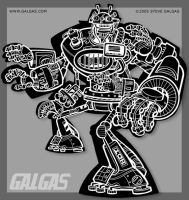 Evil Robot Naked- Inks by g-tron3000