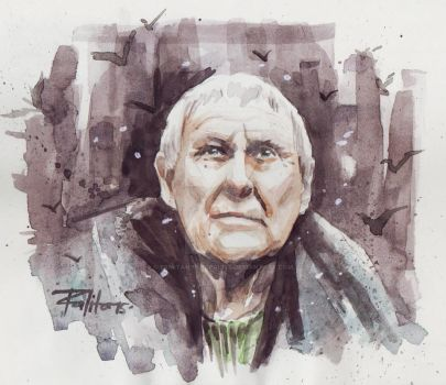 Maester Aemon by ermitanyongpalits