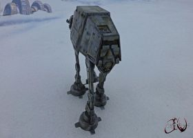 F-Toys AT-AT Custom on Hoth JVCustoms by jvcustoms