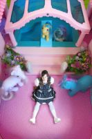as a doll in a pony house by Cedecode
