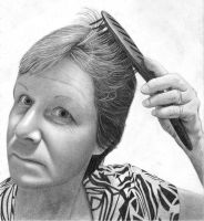 Mum Pencil Portrait by JoeyHawks