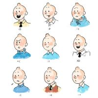 Expression of Tintin by monster3x