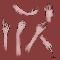 hand practice by Elibae