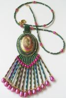 Button Necklace 001 by Bev-Choy