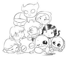 Chibi chatters @ AutopsyJuice's stream by Purly