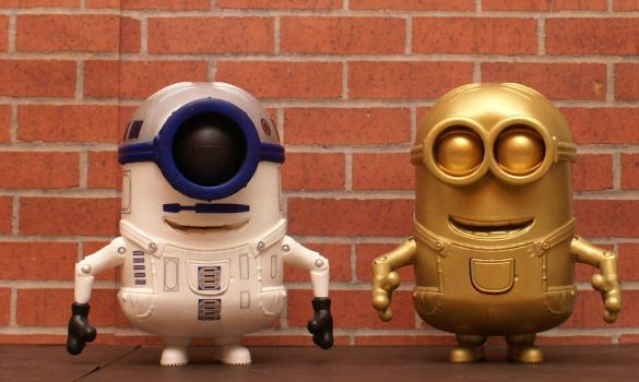 R2D2 and C3p) Minions by goose360