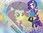 Rarity EG Rainbow Rocks Wall by NatouMJSonic